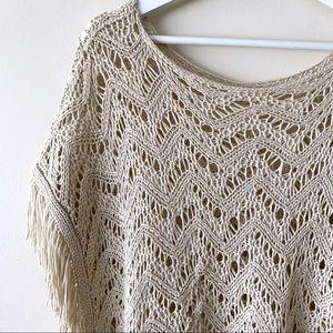 Boho Crochet Fringe Top